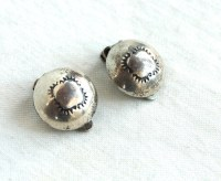 Clip On Concho Earrings Vintage Native American Jewelry