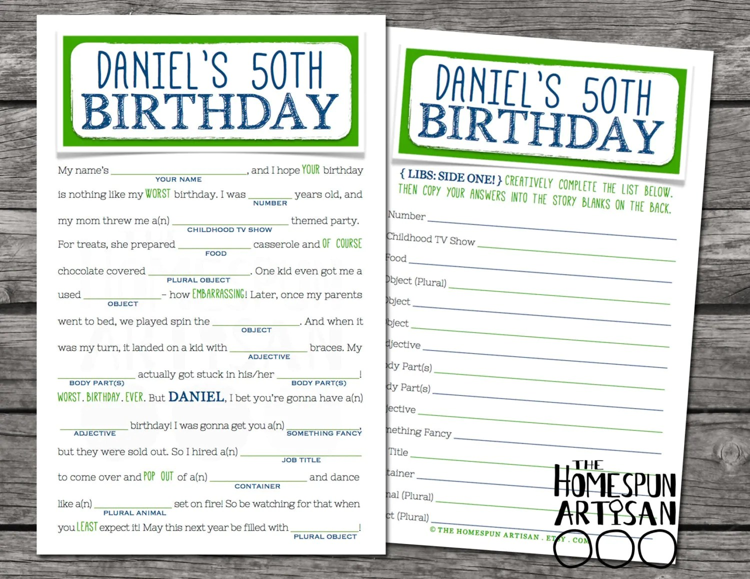 Adult Birthday Mad Libs Printable Pictures To Pin
