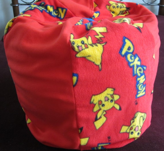 PIKACHUPokemon Bean Bag Chair with NAME  Childs Pouf