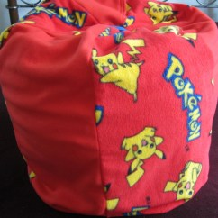 Monster High Bean Bag Chair Baby Travel Pikachu/pokemon With Name . Childs Pouf