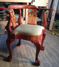 Items similar to Goddard Townsend Corner Chair, solid ...