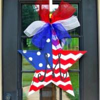 Patriotic Wreath 4th of July Wreath Fourth of July Door