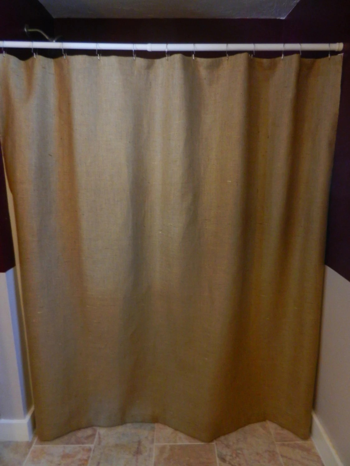 Burlap Shower Curtain72X72 Seamless No Extra