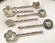 decorative hair pins. bobby