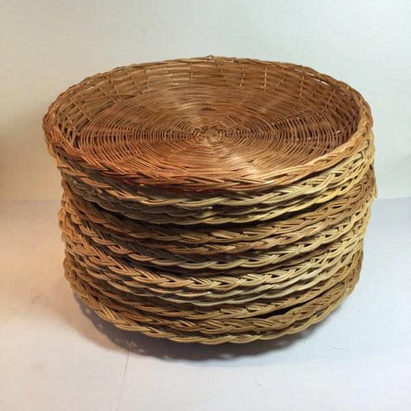 Paper Plate Holders Vintage Wicker