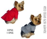 Dress Dog Coat Pattern 1679 XXSmall & XSmall Dog Clothes ...