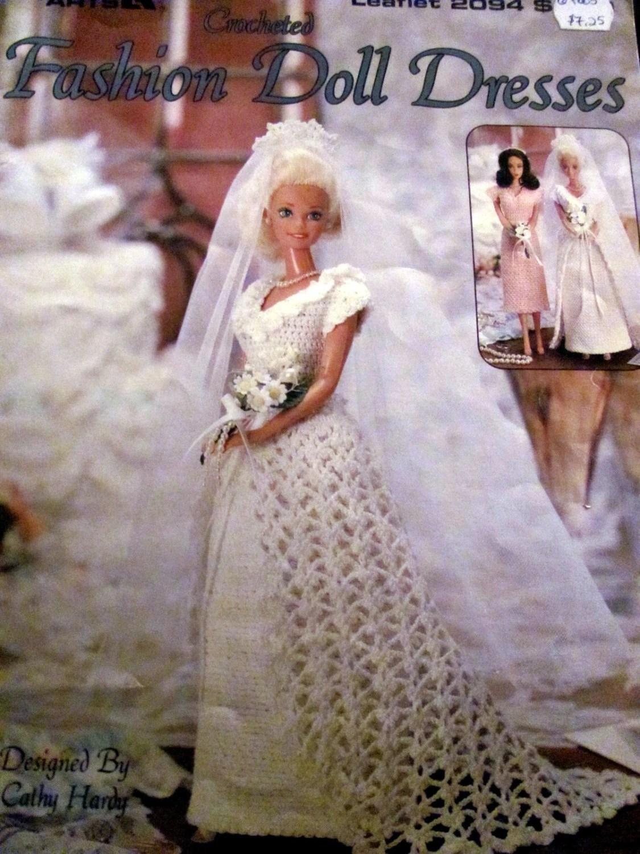 Abiti di moda alluncinetto bambola Barbie Size abito da