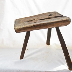 3 Legged Chair Wrought Iron Chairs Outdoor Antique Milking Stool Primitive Wooden