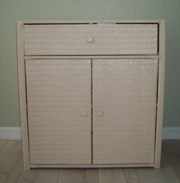 Wicker Linen Storage Cabinets