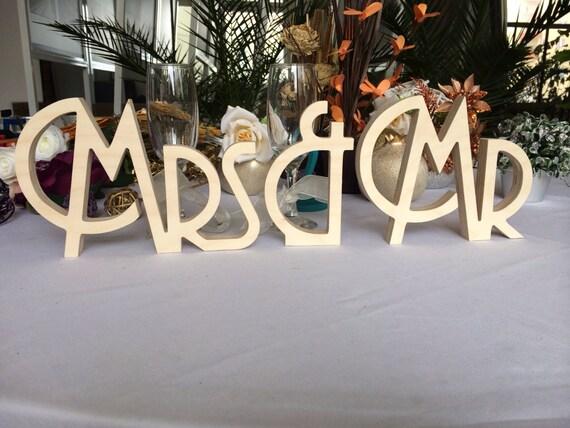 Gatsby Style Art Deco Wedding Signs Mr. & Mrs. Wooden