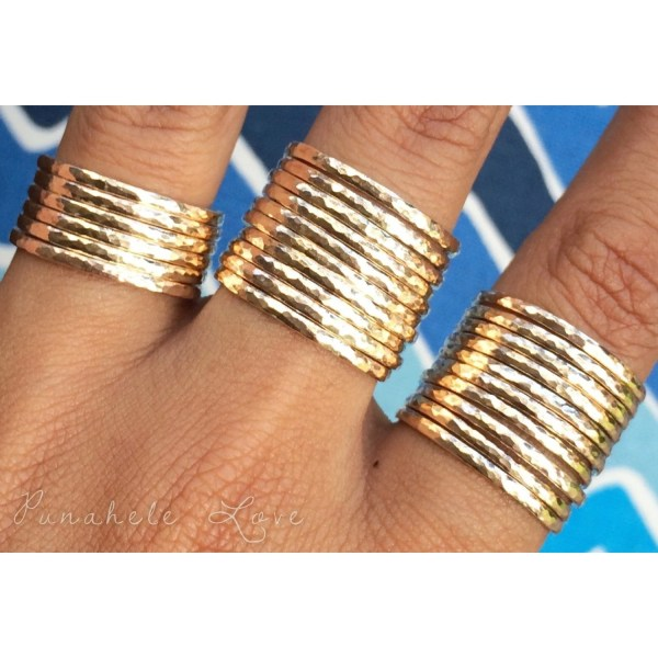 Stacking Rings Stackable 14k Gold Filled Sterling