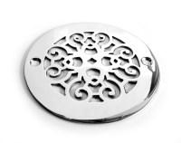 4 Diameter Decorative Round Shower Drain Grate