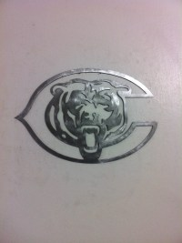 Chicago Bears Steel metal wall art