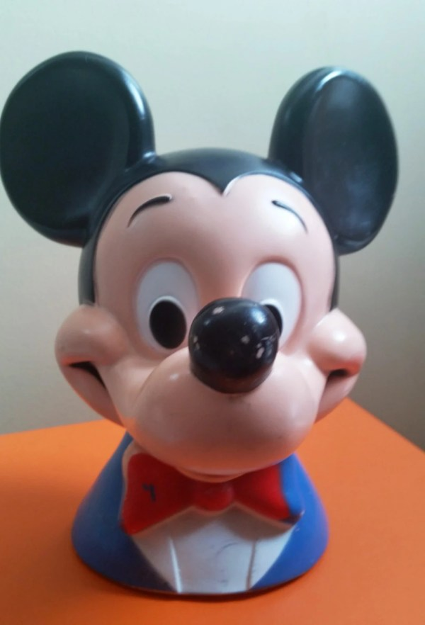 Vintage 1971 Mickey Mouse 10 Head Bank Walt Disney