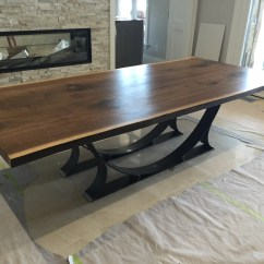 Black Walnut Kitchen Table Color Ideas For Live Edge Dining Free Shipping By