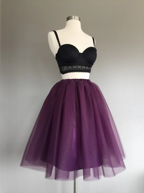 Eggplant Tulle Skirt Purple Tutu Adult