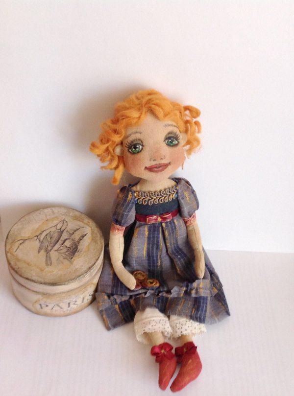Cloth Doll Art Doll-art Ooak Doll-textile
