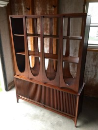 Mid Century Broyhill Brasilia Room Divider / China Cabinet