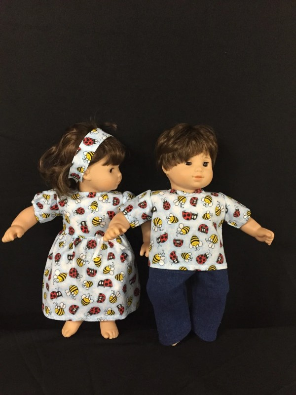 Doll Clothes Bitty Baby Girl And Boy Twin