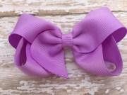 4 lavender hair bow light