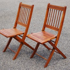 Folding Chair Plans Wood Patio Slings 2 Chairs Pair Of Slat Dowel