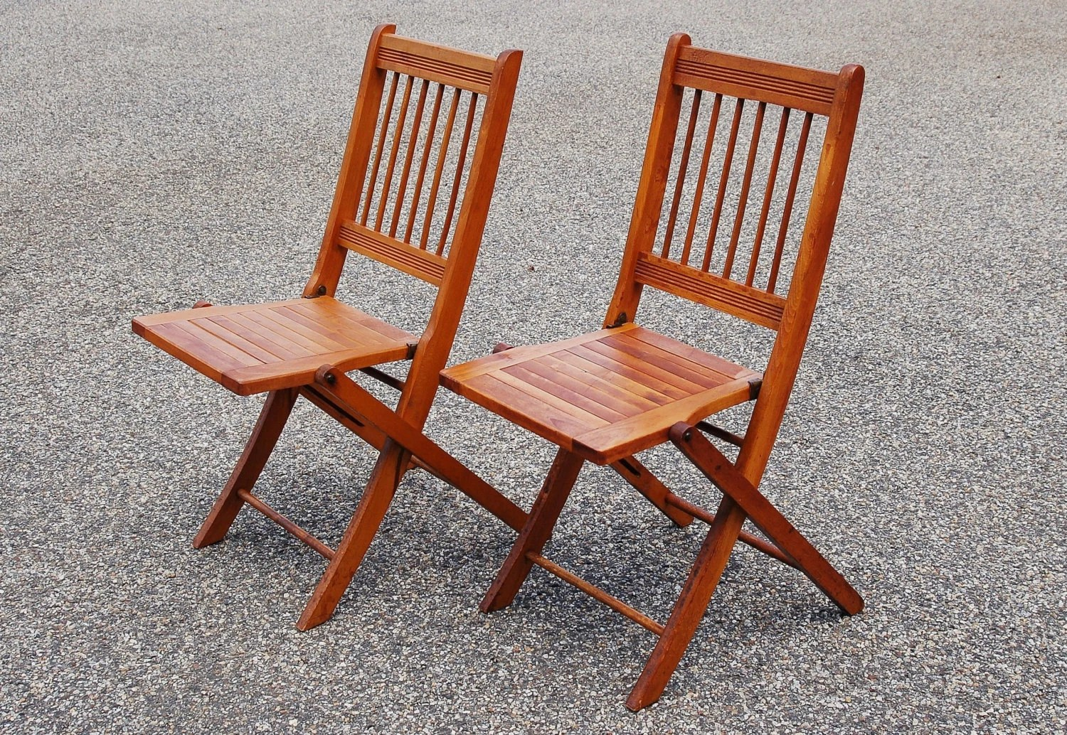 Nice Folding Chairs 2 Folding Wood Chairs Pair Of Wood Slat Folding Chairs Dowel