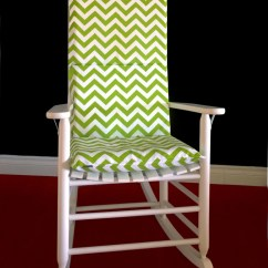 Lime Green Chair Pads Swing Price In Chennai Chevron Adjustable Rocking Cover