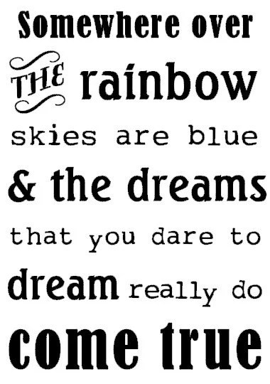 Items similar to Somewhere Over The Rainbow, Skies Are