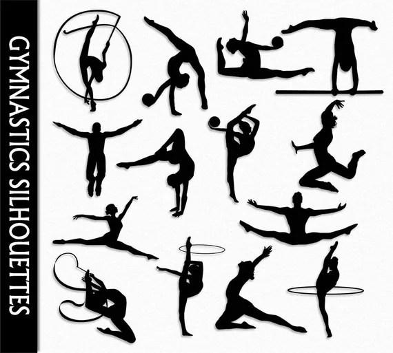 Gymnastics Clip Art Graphic Rhythmic Gymnastics Clipart