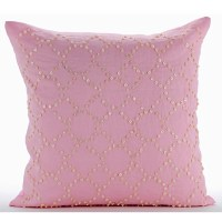 Designer Pink Decorative Pillow Cover 16x16