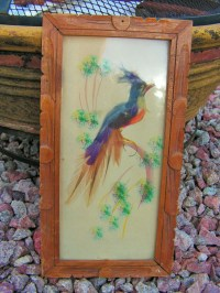 Mexican Feather Art Bird Framed Painting Collage by ...