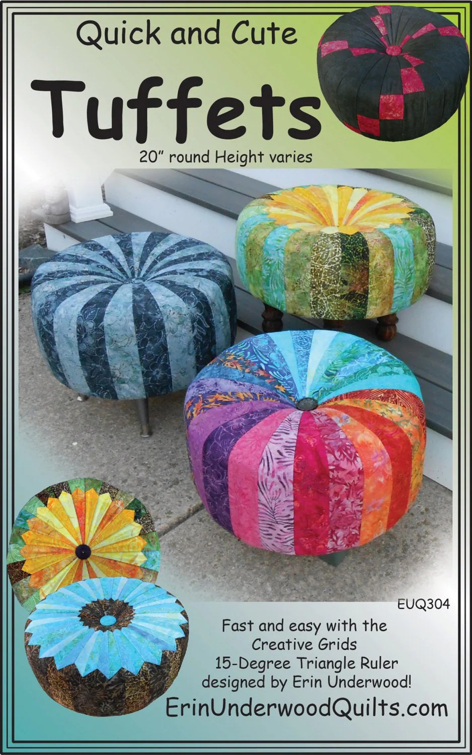 Quick and Cute Tuffets Tuffet Footstool Erin Underwood Quilt