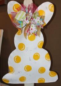Easter bunny door decoration