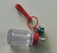 Reserved for UnBesoArdiente 1980s Bell Clip Charm Baby Bottle