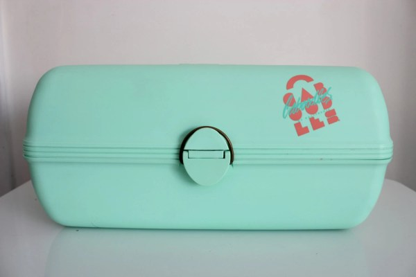 Vintage Caboodles Cosmetic Case With Mirror Green Large