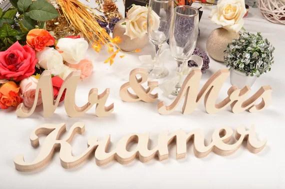 Last Name 'Mr '& 'Mrs' Sign Mr And Mrs FAMILY NAME By Svetulka