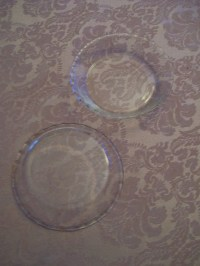 Vintage Pyrex Glass Pie Plates Lot of 2 Small 6