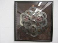Recycled sacred geometry wall art