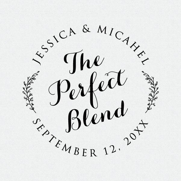 The Perfect Blend Stamp Wedding Favors Stamp Thank You