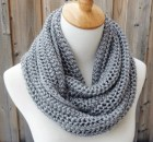 Light Gray Heather Infinity Scarf - Silver Gray Infinity Scarf - Circle Scarf - Ready to Ship