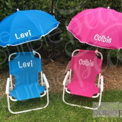 Child Beach Chair Leather Dining Chairs Target Monogrammed Kid 39s W Umbrella