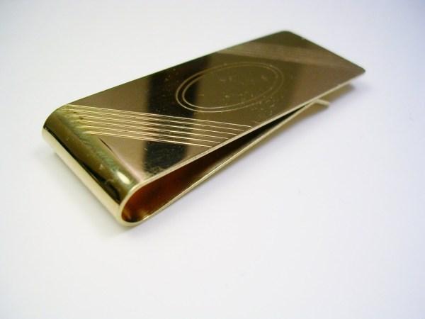 Vintage Money Clip 14k Gold Filled Speidel Usa Initial