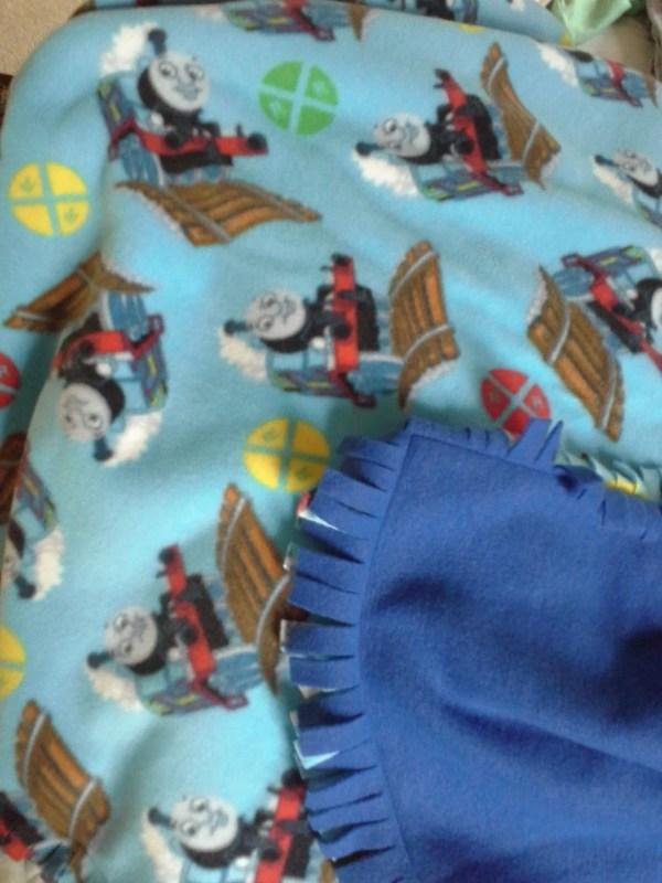 Thomas Train Fleece Blanket
