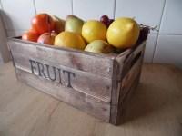 Fruit bowl/ Fruit Basket/ Rustic fruit crate / solid pine hand