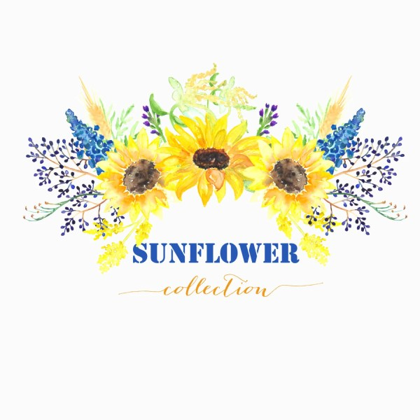 sunflower watercolour clip art