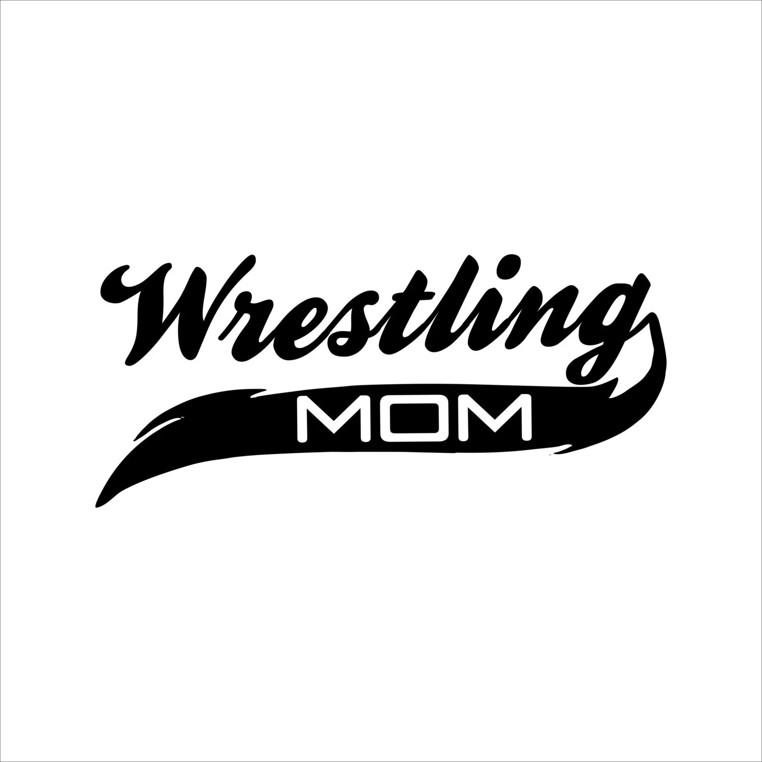Personalized Wrestling Mom or Dad Car Decal Vinyl Lettering