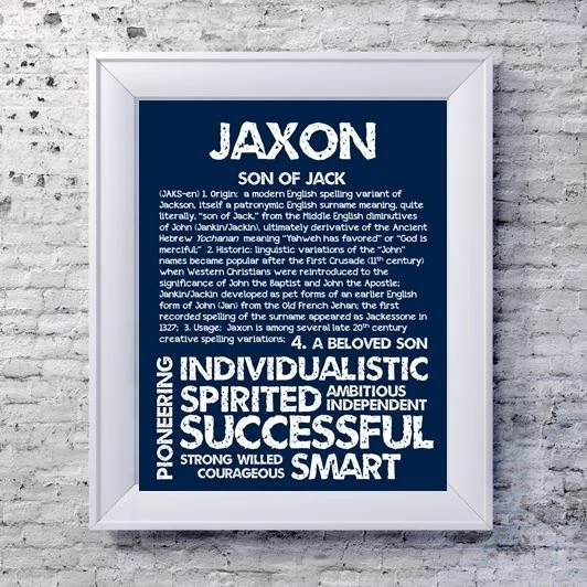 JAXON Personalized Name Print Typography Print by