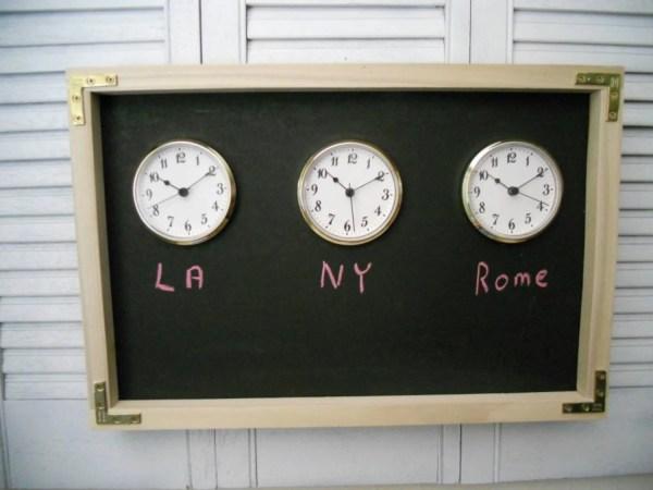 Chalkboard Time Zone Wall Clock Original