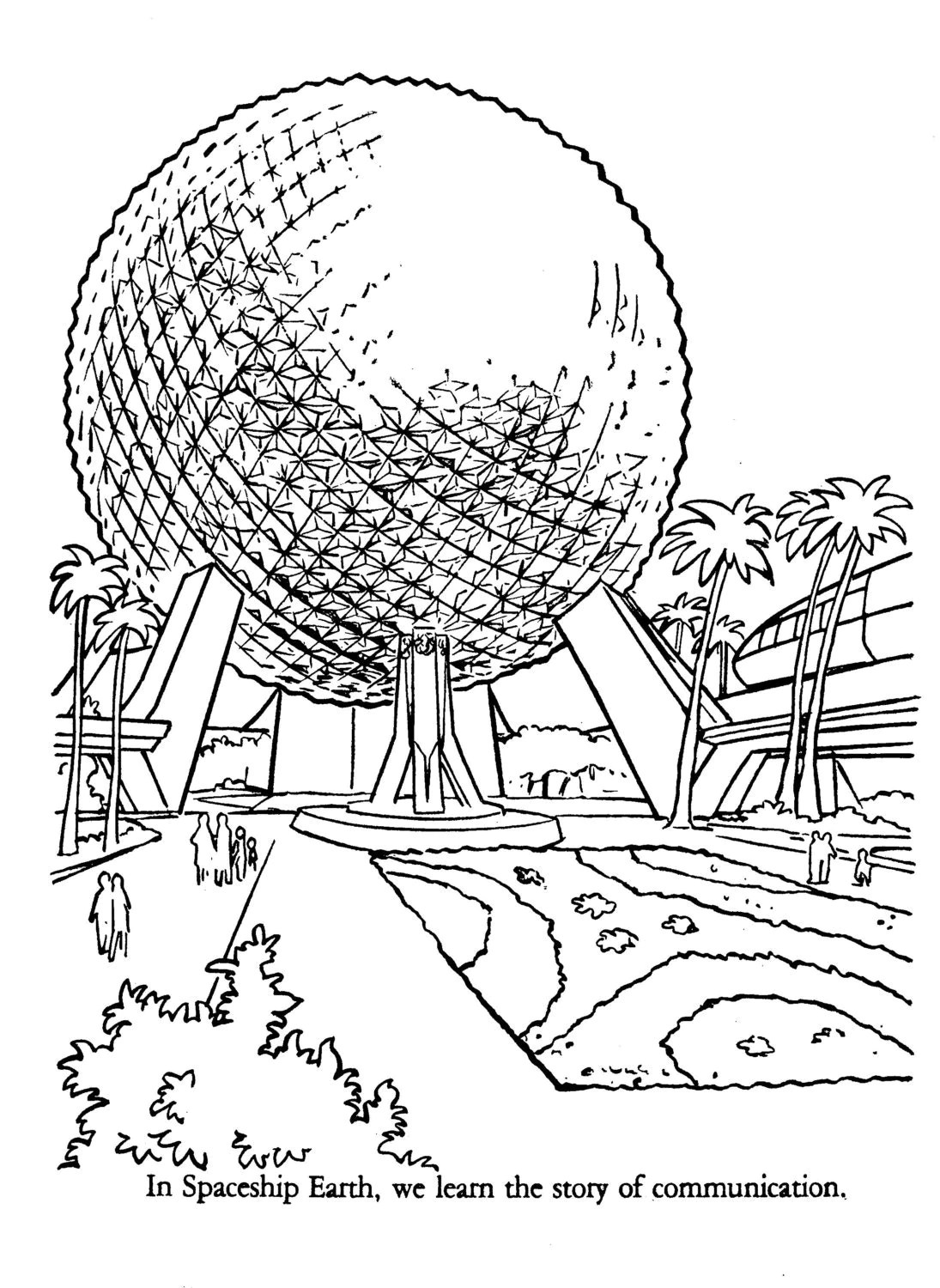 Epcot Center Coloring Book A Golden Book Published in 1983