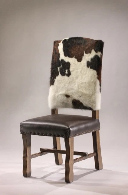Items similar to Cowhide dining chair on Etsy